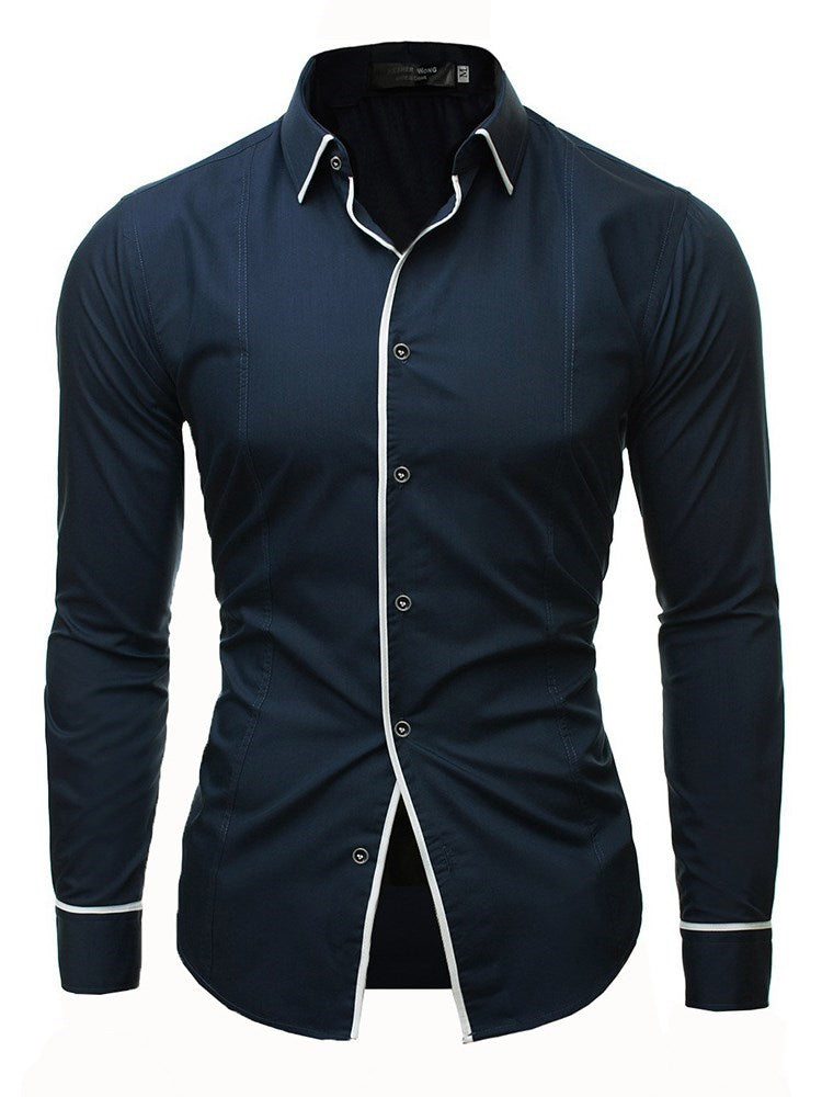 Plain Lapel Fashion Loose Single-Breasted Shirt