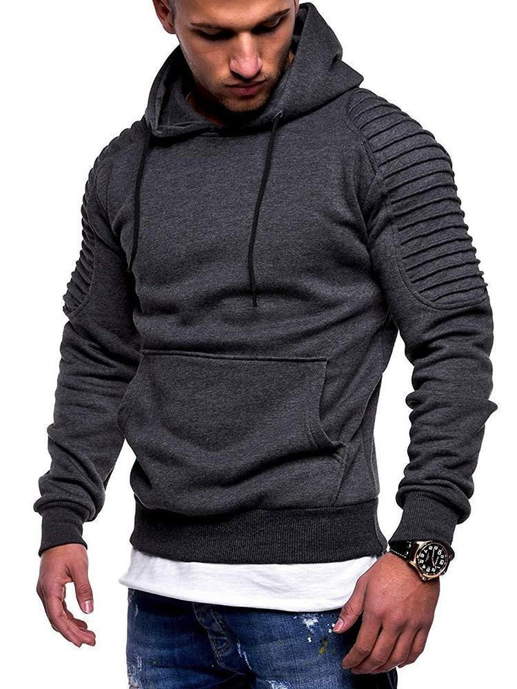 Pocket Pullover Pullover Slim Hoodies