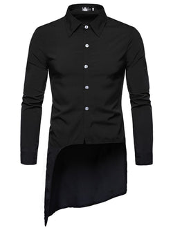 Lapel Button Plain Single-Breasted Fall Shirt