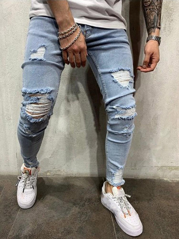 Pencil Pants Pocket Casual Zipper Jeans