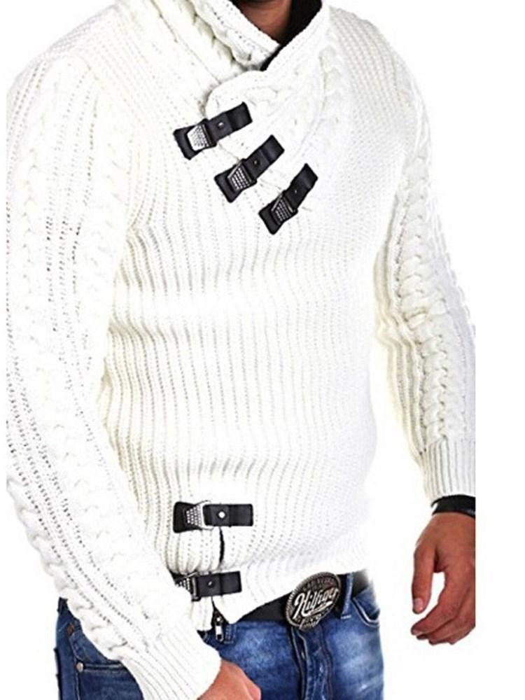 Patchwork Color Block Standard Slim Casual Sweater