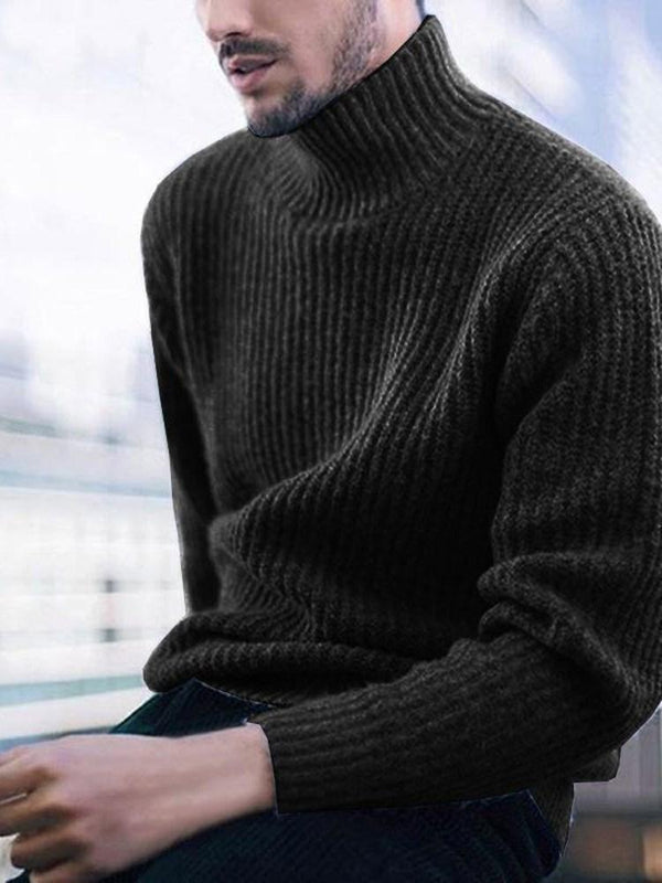 Standard Plain Turtleneck Loose Casual Sweater