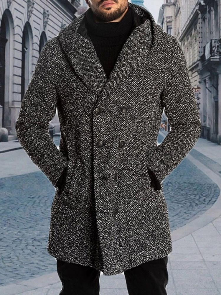 Mid-Length Button Casual Fall Coat