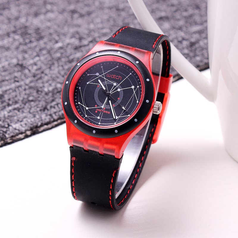 Round Multiple Time Zone Glass Watches