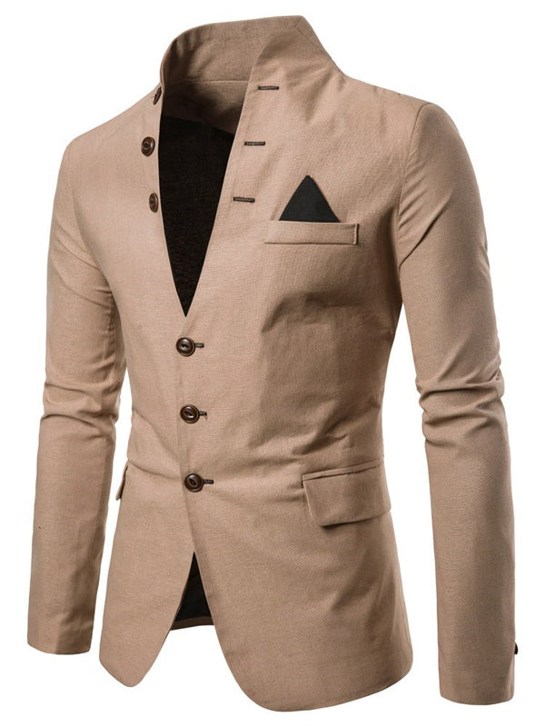 Plain Pocket Slim Blazer