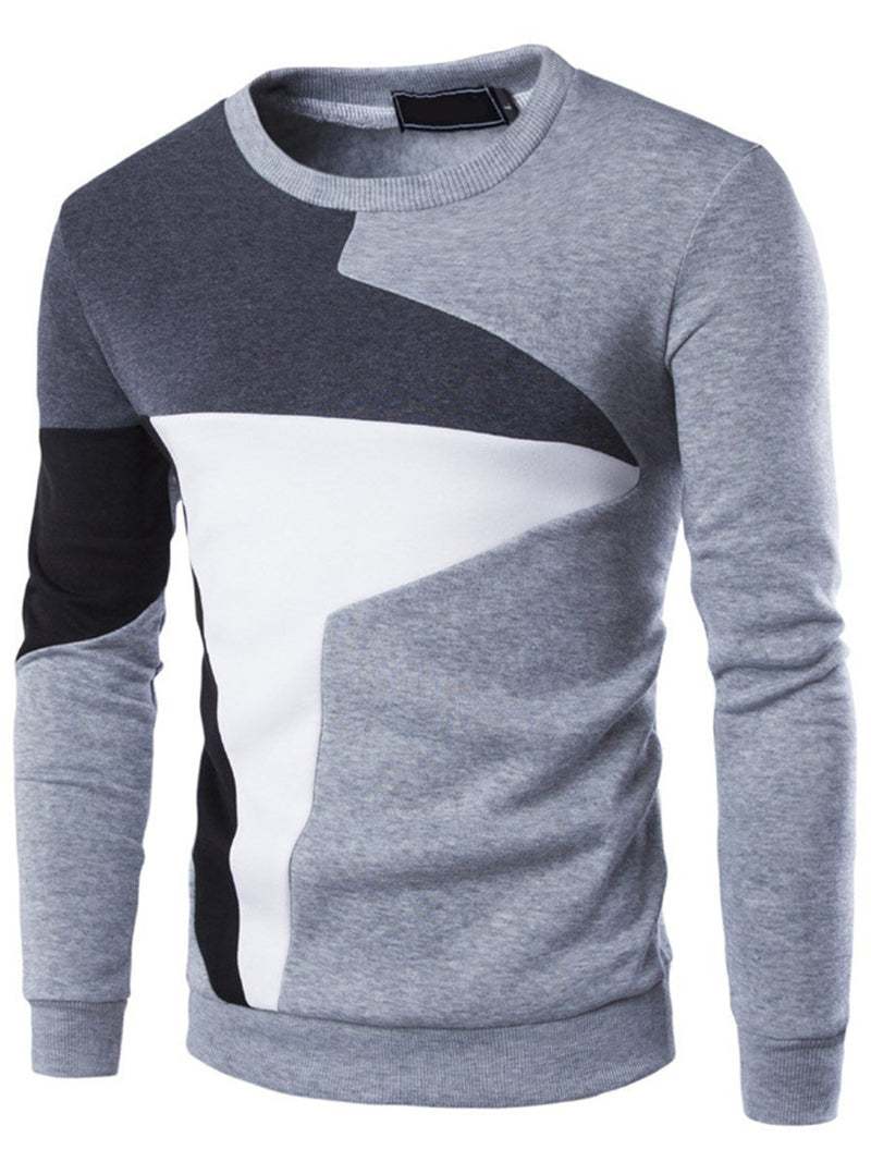 Color Block Pullover Pullover Slim Hoodies