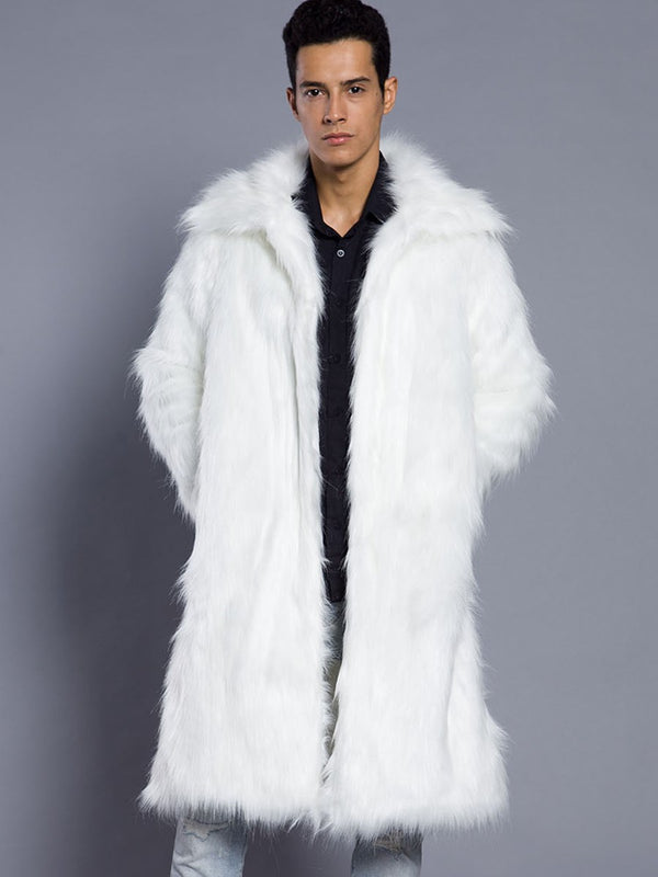 Long Lapel Straight Winter Coat