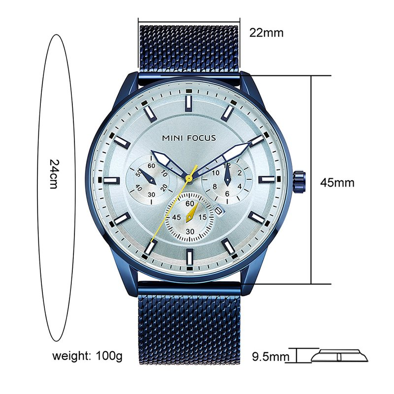 Round Luminous Quartz Watches