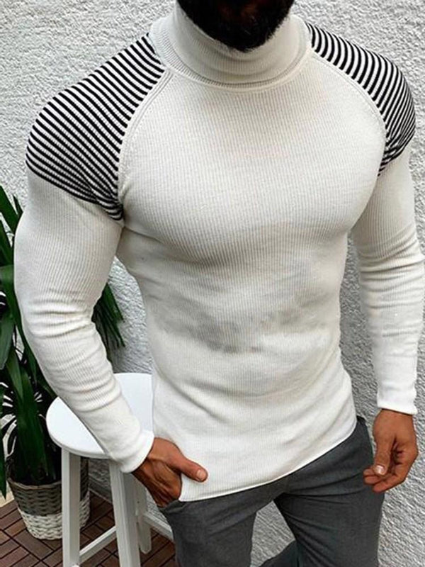 Standard Turtleneck Stripe Slim Fall Sweater