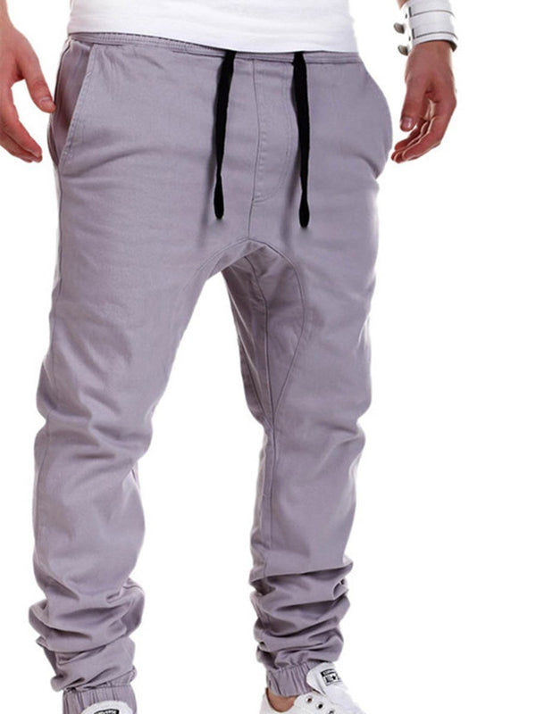 Plain Fall Casual Pants