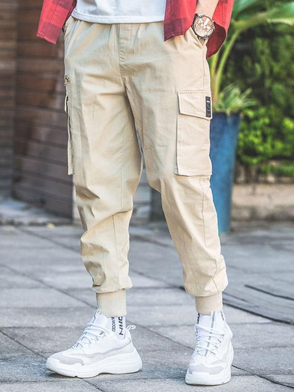 Thin Pocket Overall Fall Japanese Casual Pants