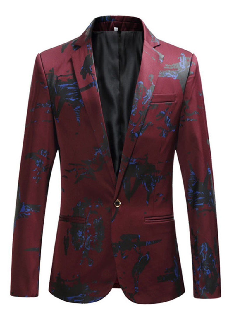 Slim One Button Floral Blazer