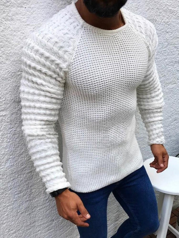 Standard Round Neck Plain Slim Winter Sweater