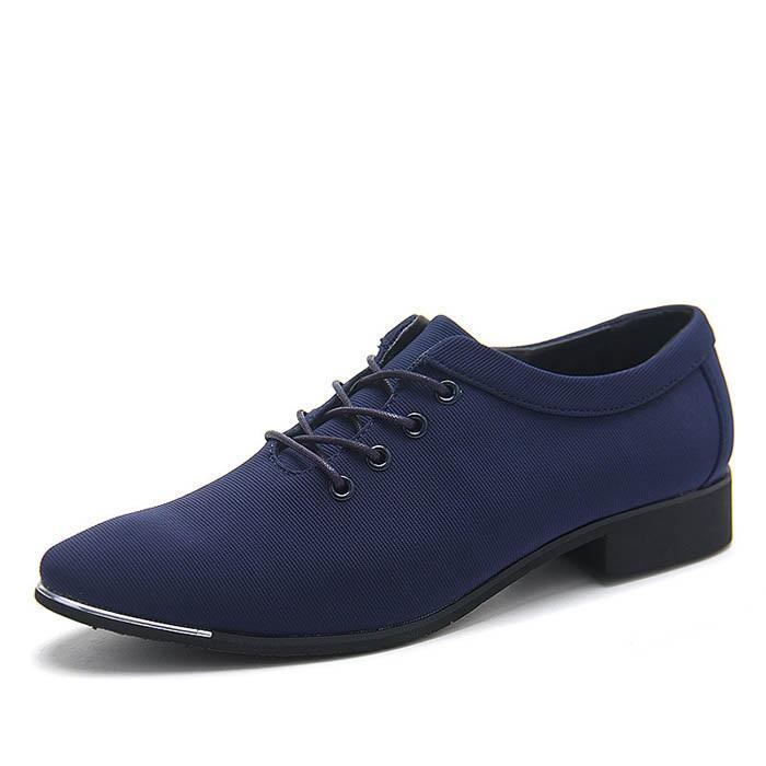 Plain Low-Cut Upper Canvas Round Toe Leather Shoes