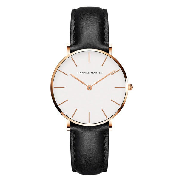 Round Glass Water Resistant Watches