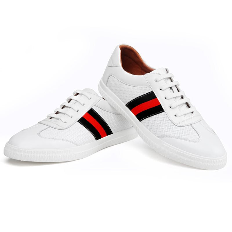 Lace-Up Stripe Low-Cut Upper Round Toe Skate Shoes