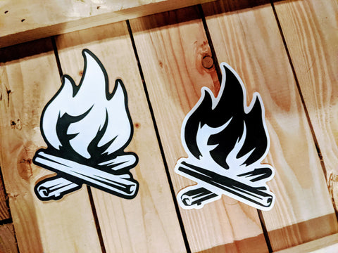 Fiber Light Flame Stickers