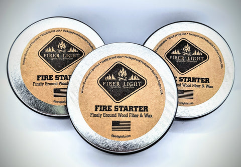 3 PACK - Original Fiber Light Fire Starter