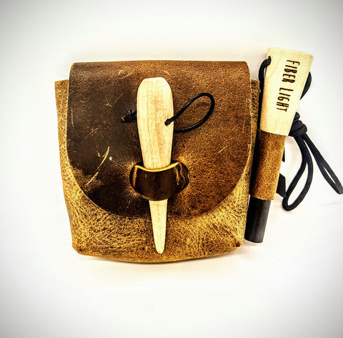 Fiber Light Leather Pouch