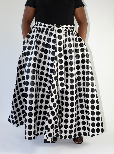 Black & White Polka Dot Skirt