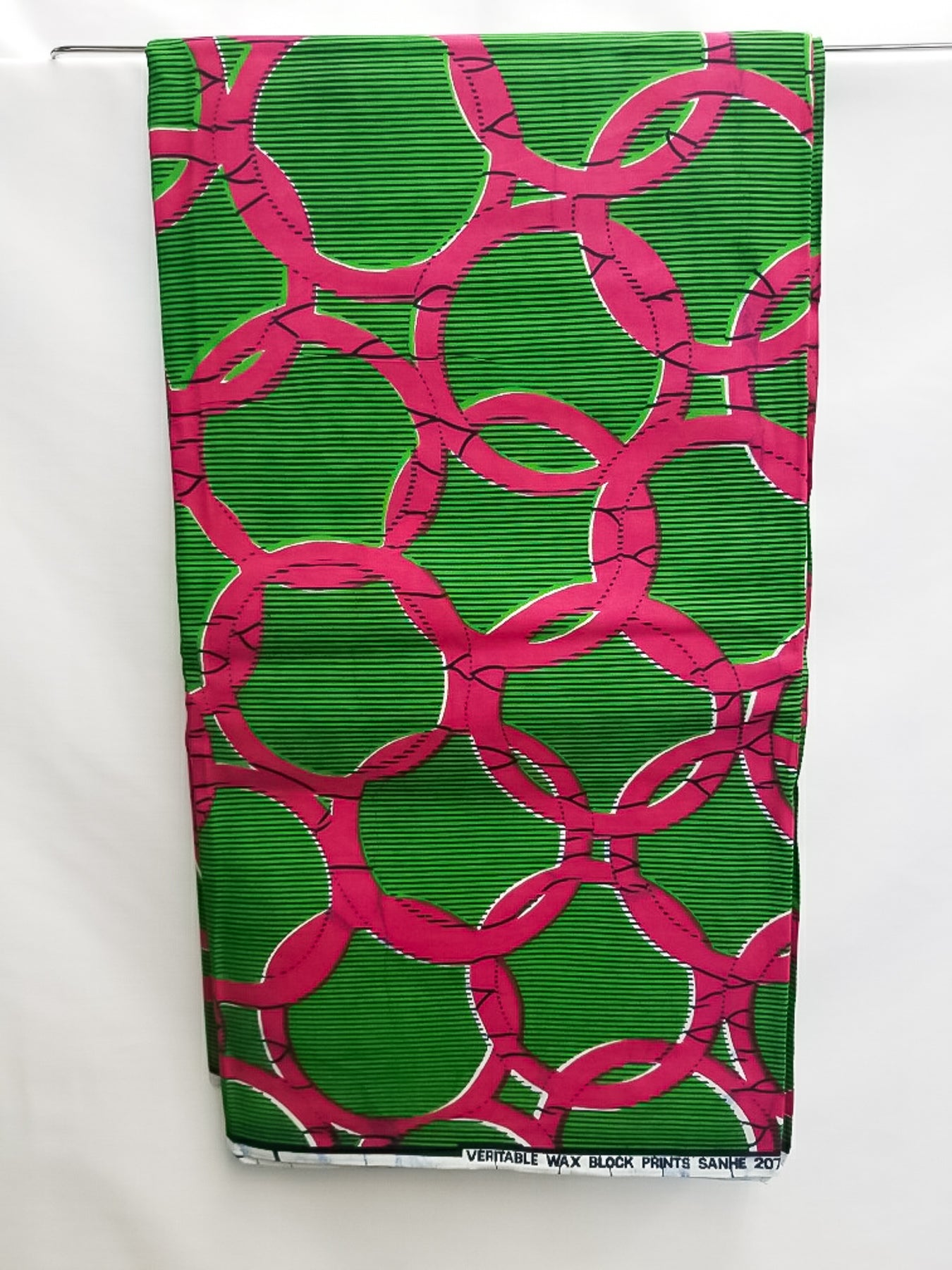 Deep Green & Fuchsia Fabric