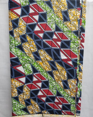 Multi-Color African Print Fabric