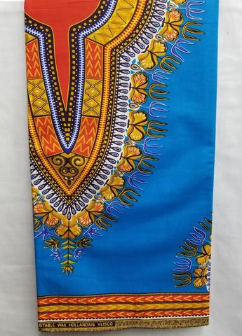 Sky Blue Dashiki Print Fabric