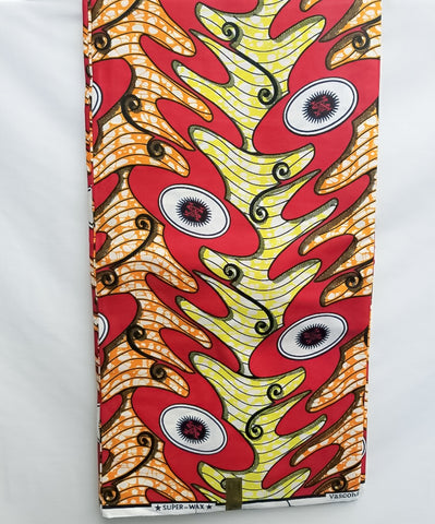 Red , Orange & Yellow Printed Fabric