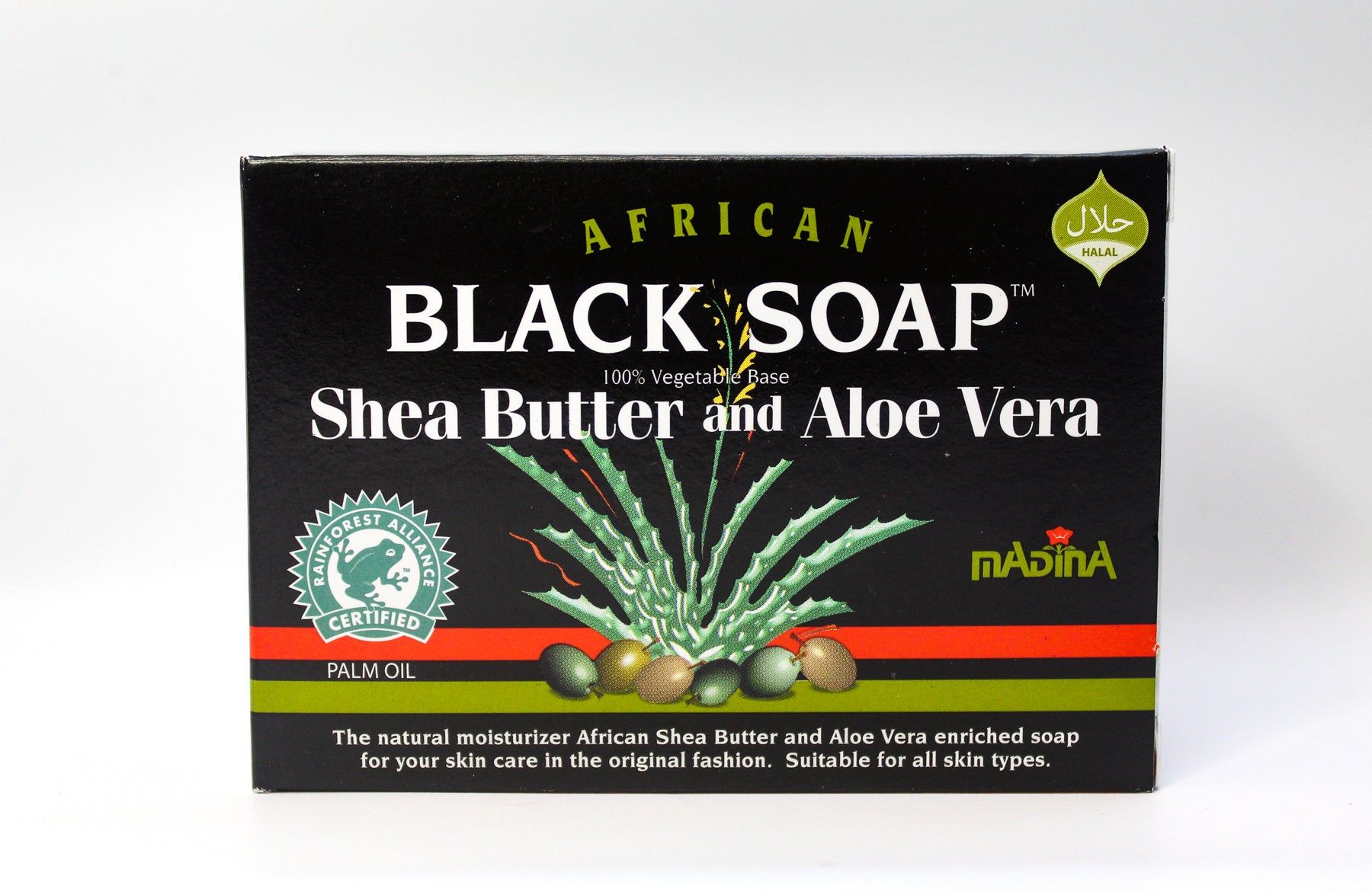 Shea Butter & Aloe Vera Black Soap, 3.5oz