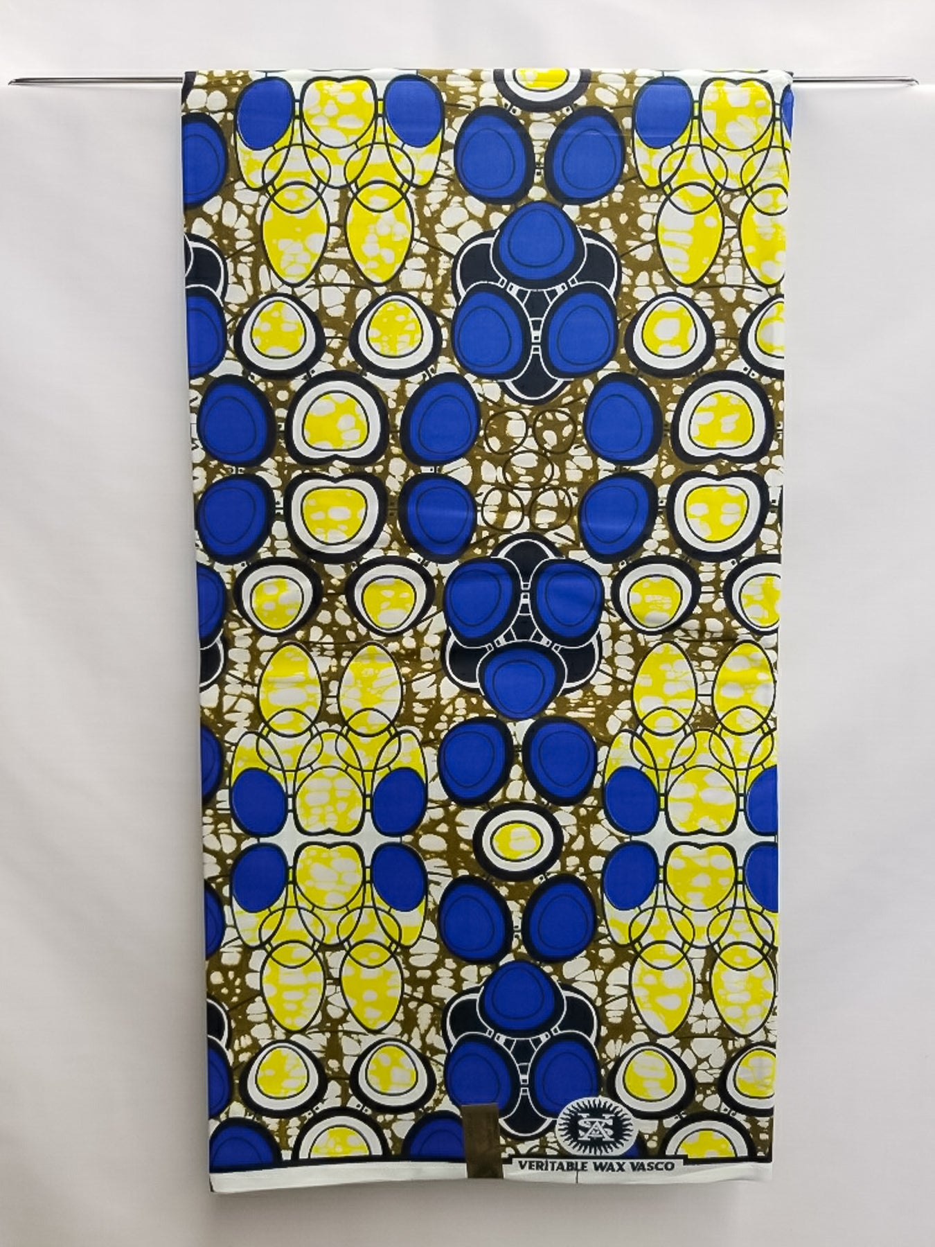 Royal Blue, Yellow & White Fabric