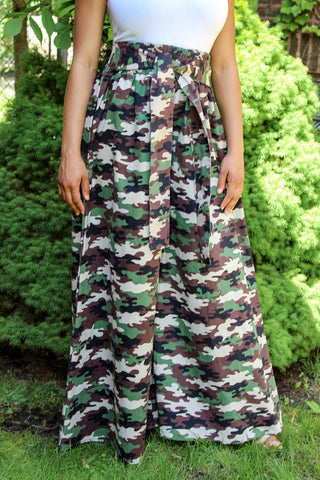 Camo II Wide Leg Pants