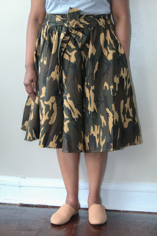 Brown Camo Skirt