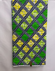 Green & Yellow Box Fabric