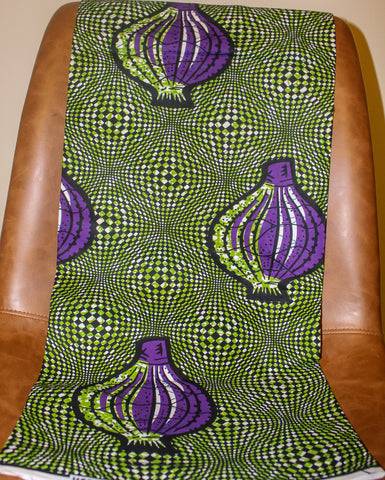 Green, Black & Purple Fabric