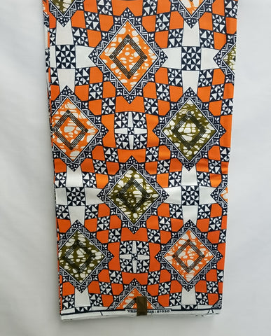 Orange Diamonds Fabric