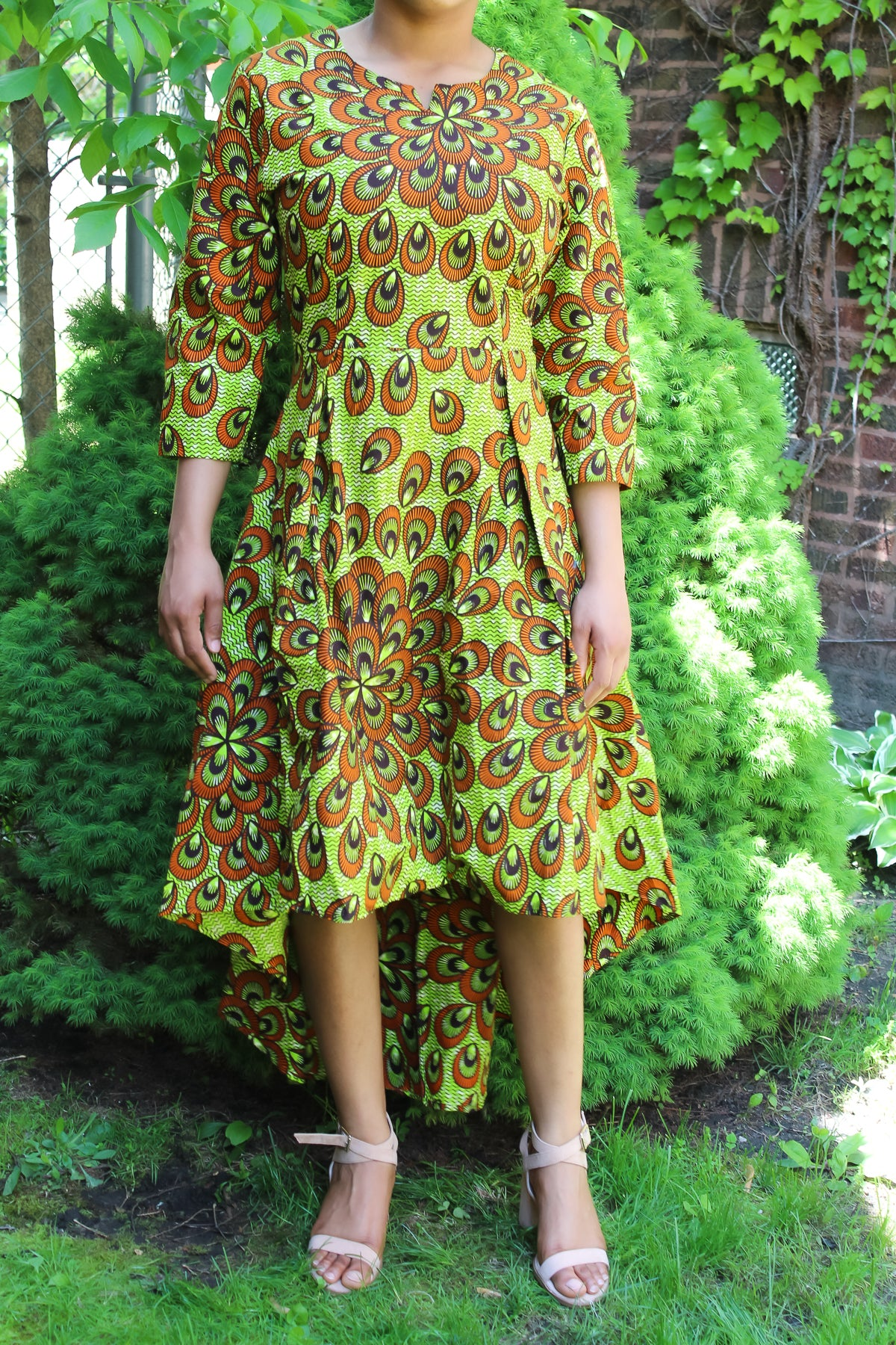 High-Low Peacock Dress