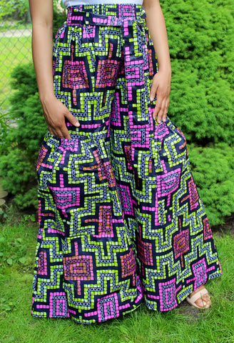 Orchid & Lime African Print Pants