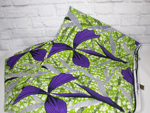 Purple & Green Fabric