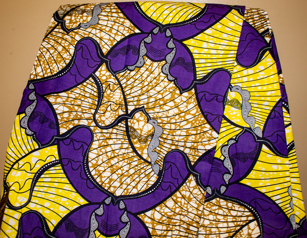 Purple & Yellow Fabric