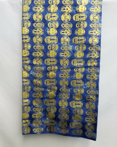 Royal Blue & Gold Mask Fabric