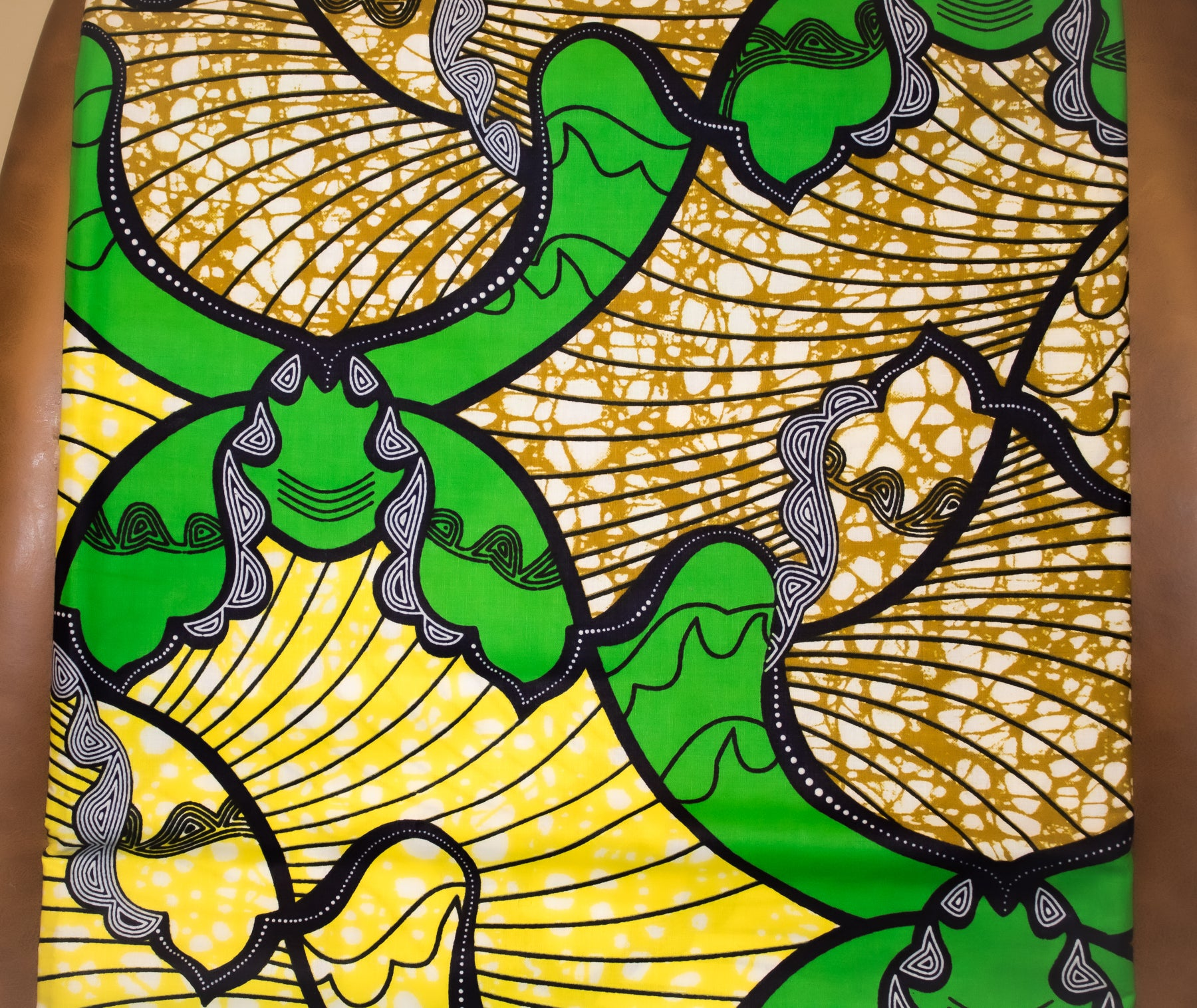 Yellow & Green Fabric