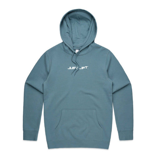 Just Lift - Embroidered Hoodie (Slate Blue)