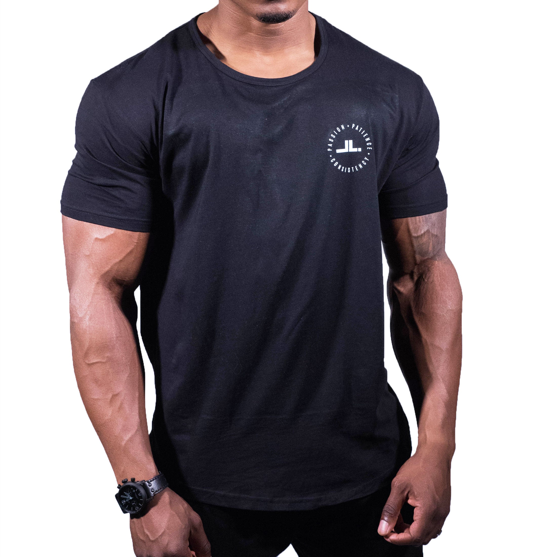 Badge Scoop Tee - Black