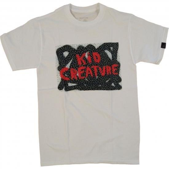 Kid Creature / Dot Logo Tee - S / White - Sale