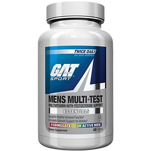 GAT, MENS MULTI+TEST ACTIVE, 60 TABLETS