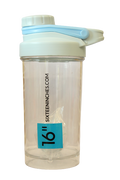 SIXTEENINCHES TRANSPARENT SHAKER WITH FUNNEL BOX , 500ML