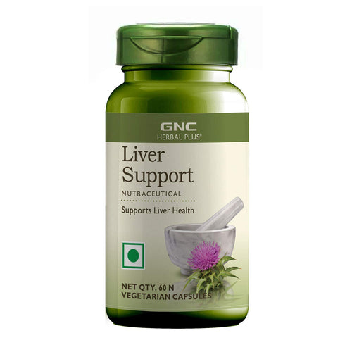 GNC Herbal Plus Liver Support - 60 Vegetarian Capsules.