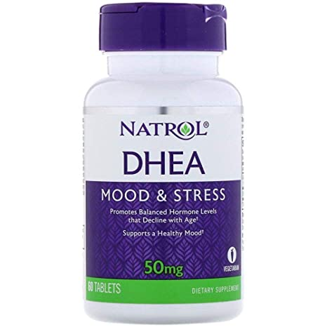 NATROL DHEA MOOD & STRESS, 50 MG (60 TABLETS).