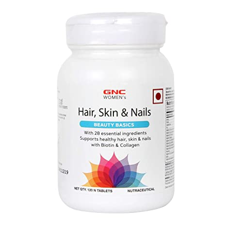 GNC Women's Hair, Skin and Nails - 120 Tablets.