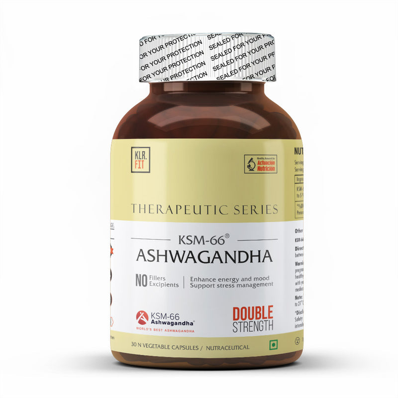 KLR.FIT KSM-66 ASHWAGANDHA , 30 N VEGETABLE CAPSULES.